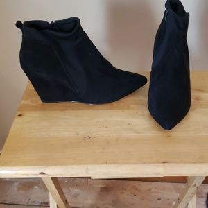 Size 12 Wedge Sueded Booties
